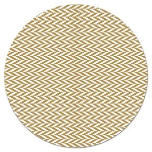 tapis rond moutarde