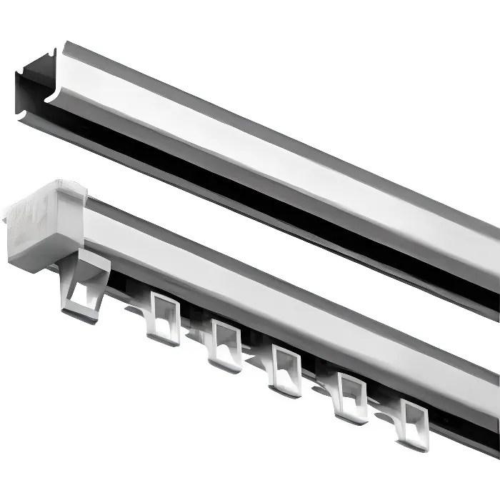 tringle rail plafond blanc 1 m 50