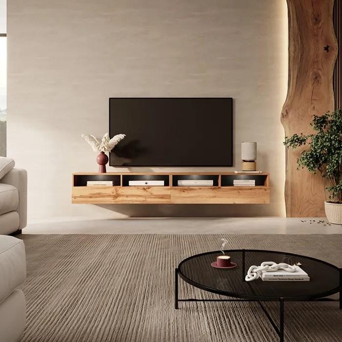 meuble tv rednaw 200 cm chene