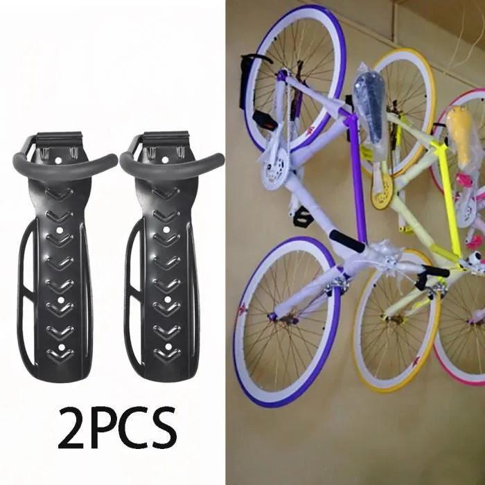 2 x velo velo velo support mural crochet de suspension rangement pour le garage porte rack stand sahahhj1962