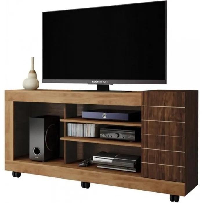meuble tv 55 pouces maxi chene wenge 1 porte cae