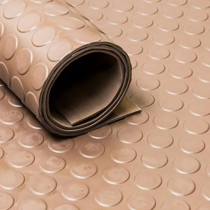 tapis caoutchouc pastille 3 mm marron largeur 12