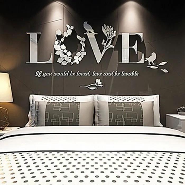 sticker mural home decor stickers muraux salon amovibles stickers chambre adulte stickers muraux miroir salon love blanc