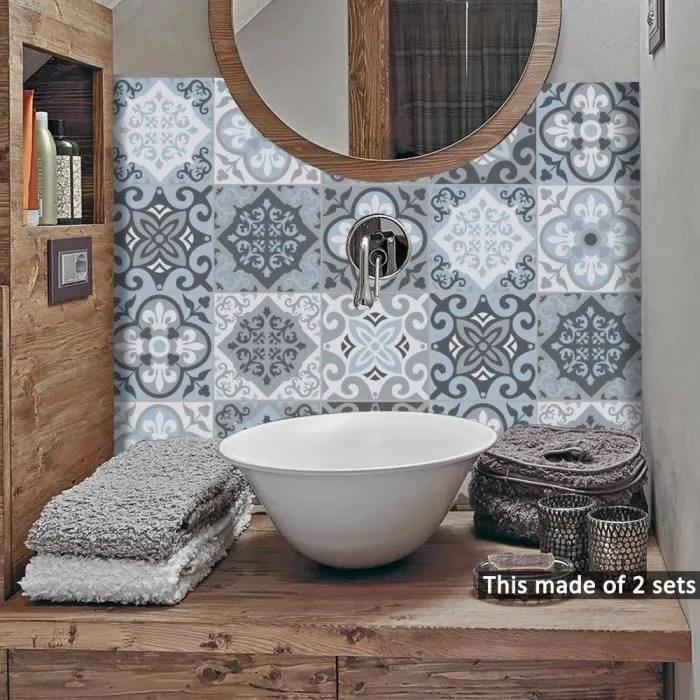 carrelage stickers muraux salle de bains cuisine a