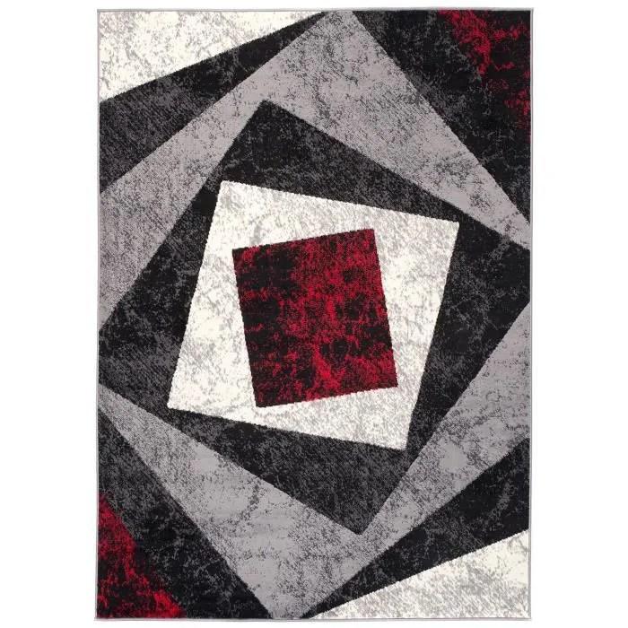 salon design moderne noir gris