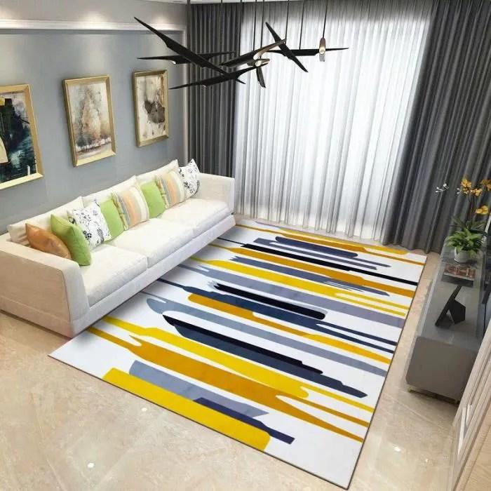 tapis salon multicolore