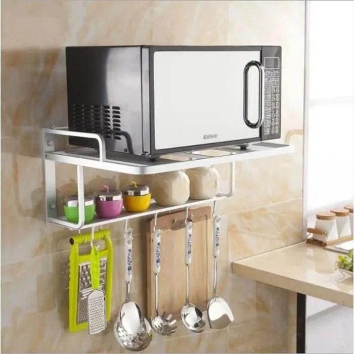 etageres micro ondes four support mural de rangement cuisine
