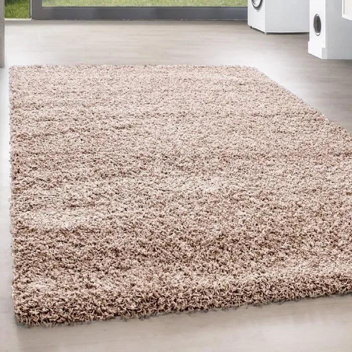 shaggy shaggy long pile pas cher beige tapis salon versc tailles 200x290 cm