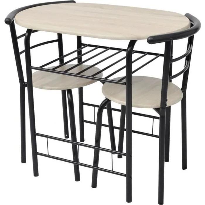 table de cuisine petite bois de mdf et metal noir kitchen table a manger petit dejeuner diner breakfast