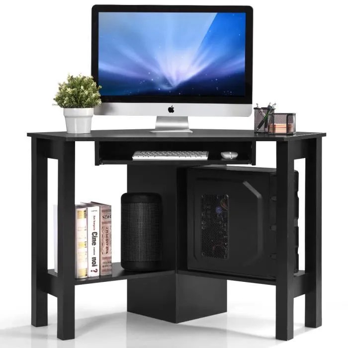 giantex bureau d angle meuble tv de