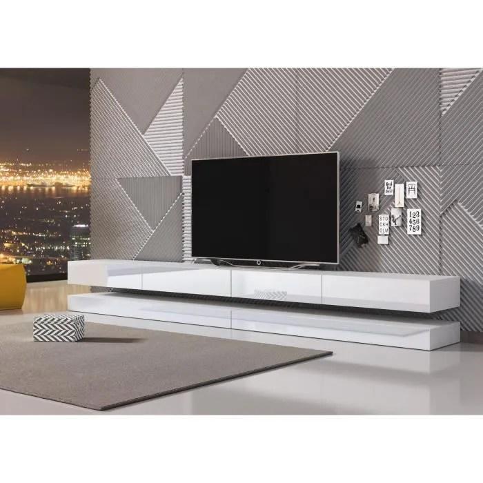 vivaldi meuble tv fly double 280 cm blanc ma