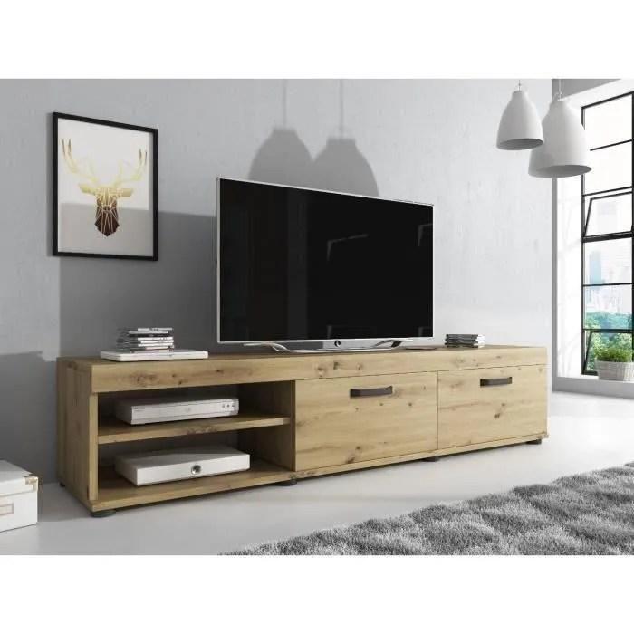 e com meuble tv elsa 140 cm artisan chene