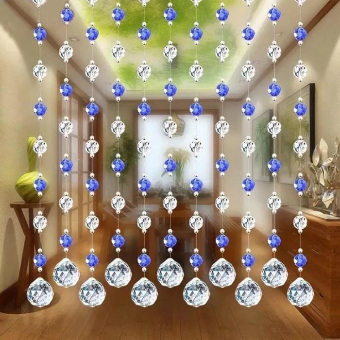 rideau de luxe en perles de verre pour chambre a