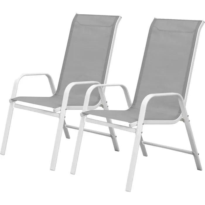 fauteuil jardin textilene cordoba