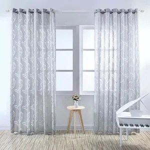 rideaux voilage gris