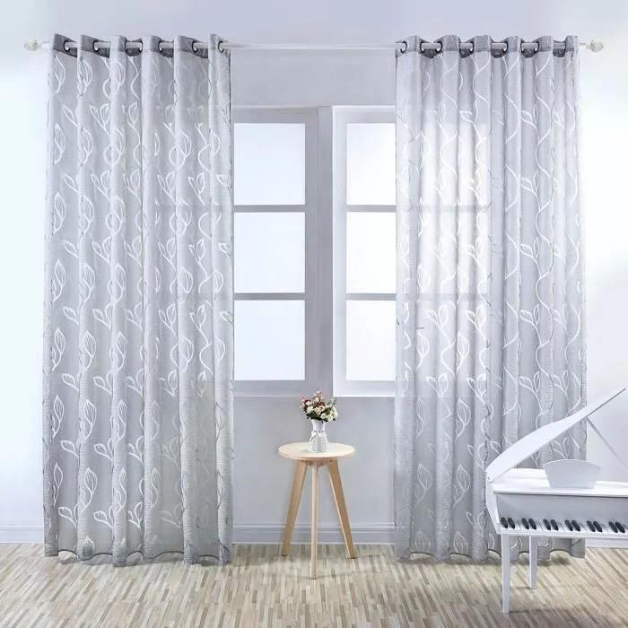 rideaux voilage largeur 80 cm x 100 cm