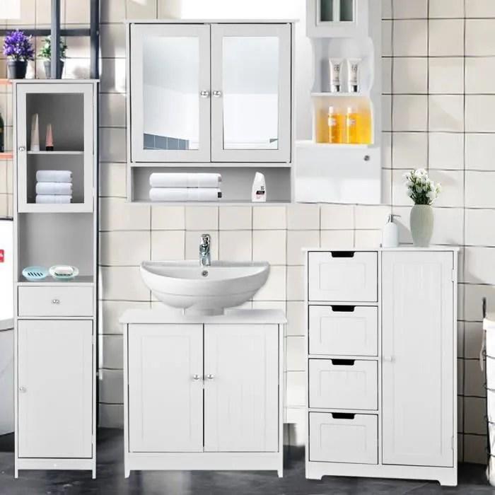 ikayaa meuble sous lavabo salle de bain meuble de rangement sous vasque en mdf armoire de salle de bain
