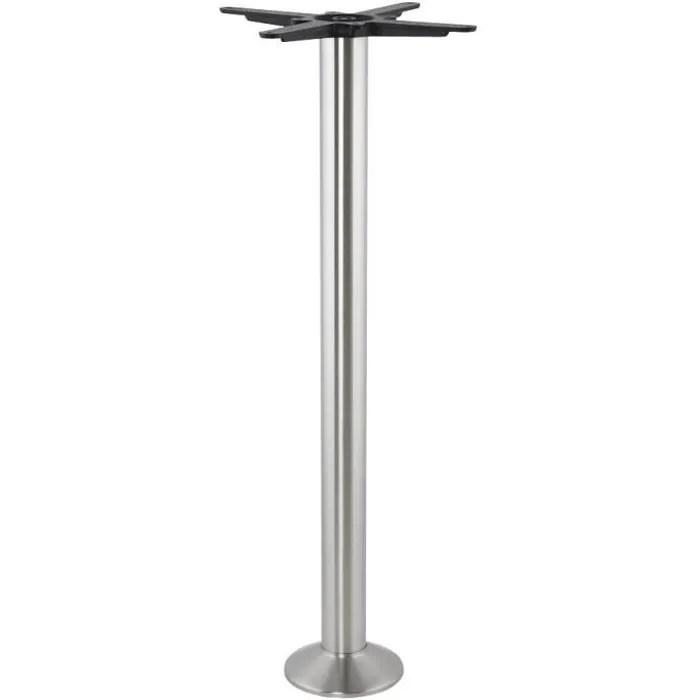 pied de table piket 110 cm en metal brosse a