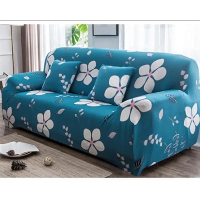 elastique housse de canape 3 places avec motifs de