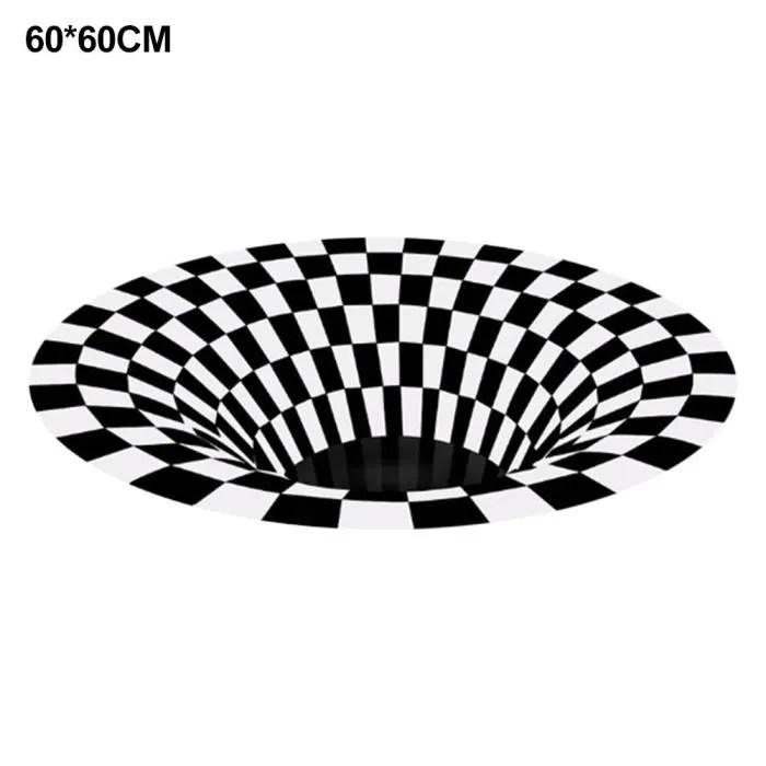 tapis de salon 60 60cm dessous de tapis rond noir