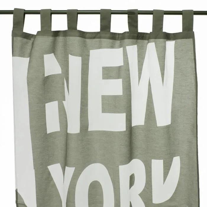 voilage new york 110x250cm gris vert