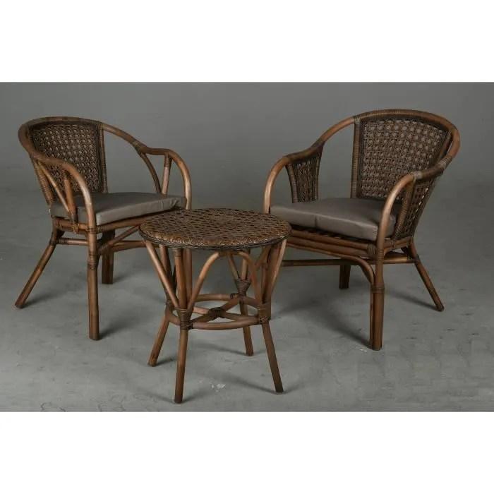 fauteuil rotin rond de jardin