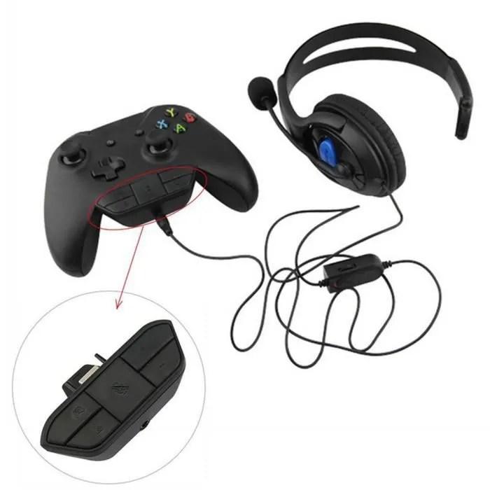 adaptateur de jeu audio casque stereo casque pour microsoft xbox one controller dr
