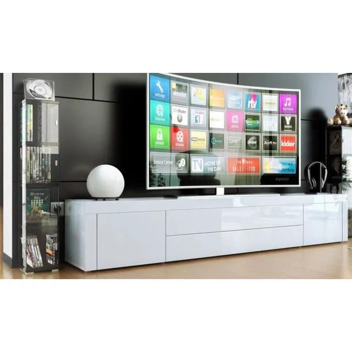 meuble tv meuble bas pour tv blanc