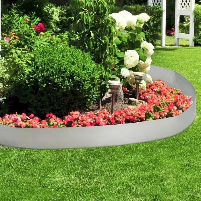 bordure de jardin en acier galvanise