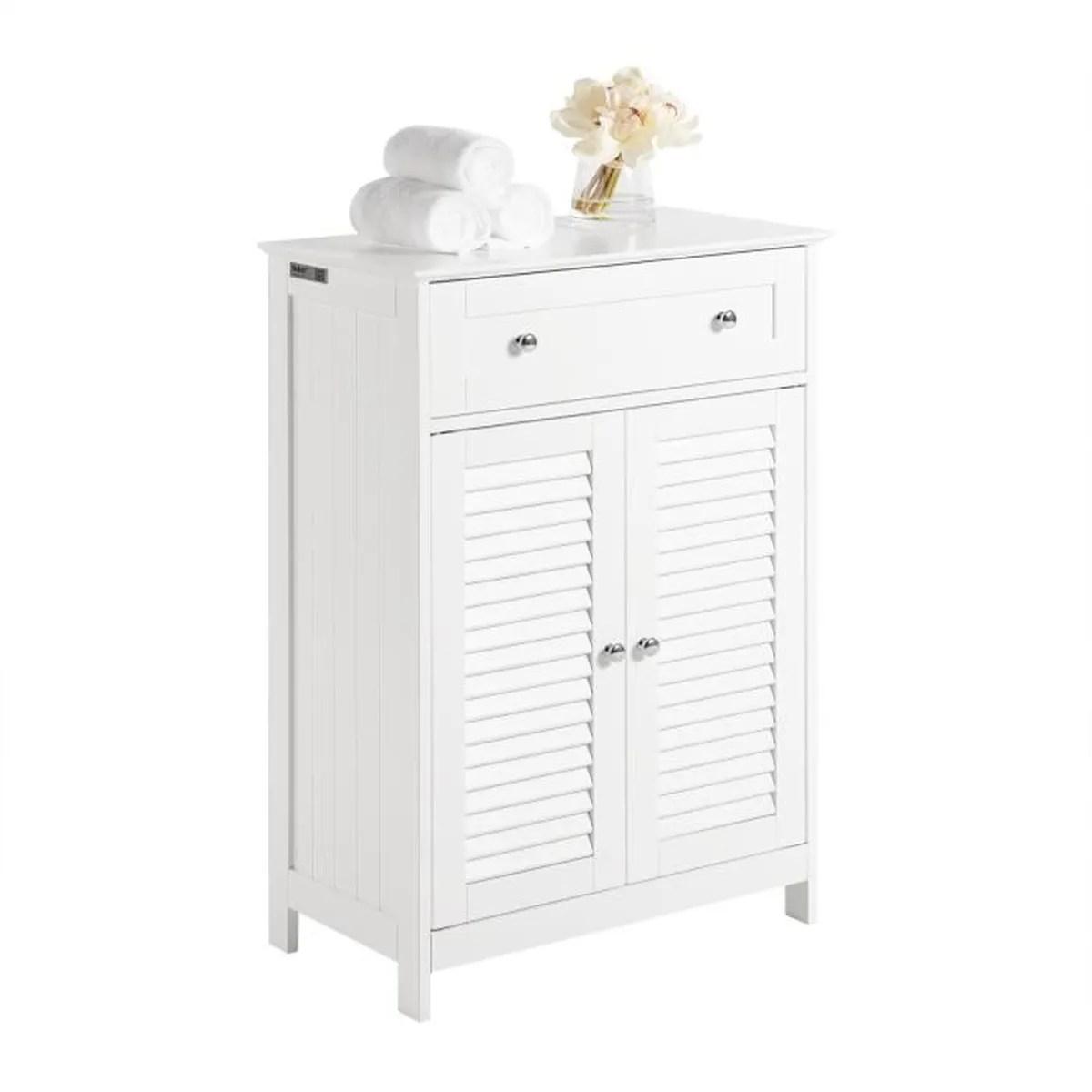 Meuble De Salle De Bain Bas Armoire De Toilette Achat Vente Pas Cher
