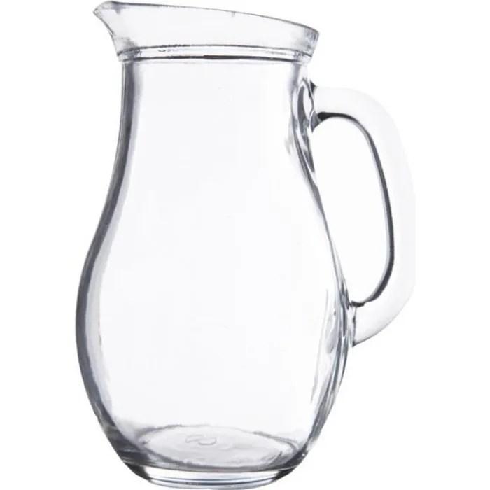 pichet d eau bistrot 1l transparent
