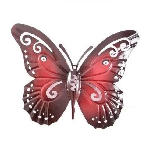 decoration murale metal papillon 21 x