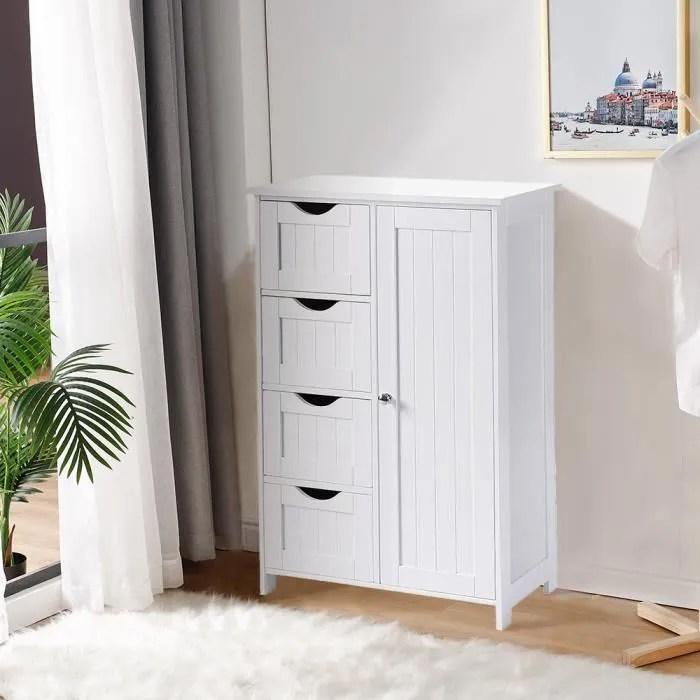 meuble de salle de bain avec 4 tiroirs et 1 porte