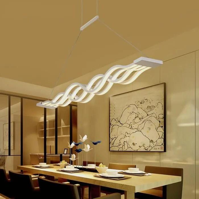 Ridgeyard Lampes Led Lustre Pour Salle A Manger Wave Lighting Simplicite Creative Et Personnalite Moderne Bar Lumiere Chaude 4 Tetes Achat Vente Ridgeyard Led Pendentif Lam Cdiscount