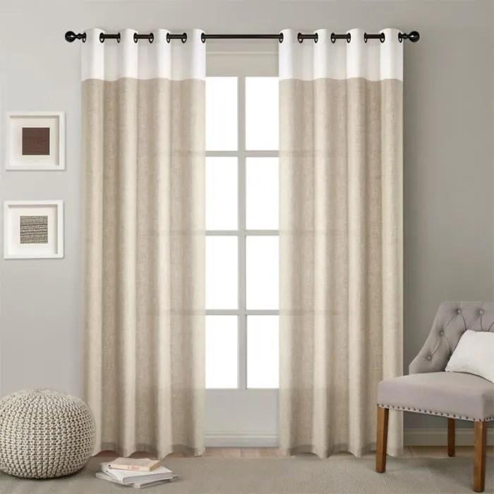 rideaux blanc en lin