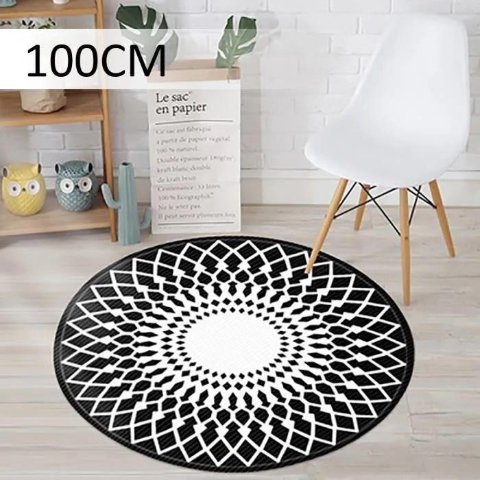 tapis rond 100cm de diametre pour salon chambre no
