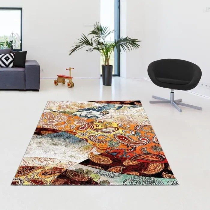 un amour de tapis bohem chic 160x230 cm tapis d orient tapis salon tapis rectangulaire tapis multicolore