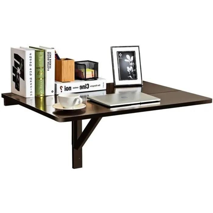 table murale rabattable pliable en bois support mural pliant double pliage gain de place pour salon salle a manger bureau