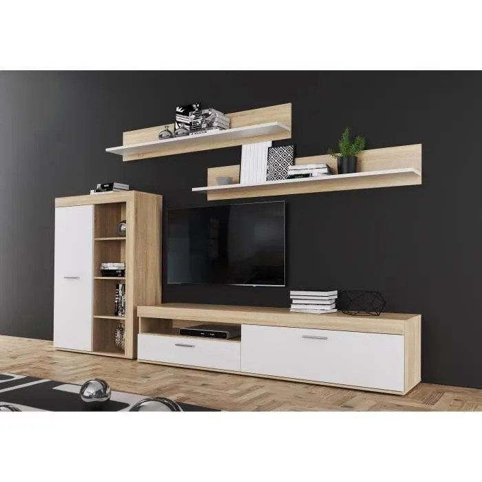 anklam ensemble meuble tv l 213 x p 42 x h 184