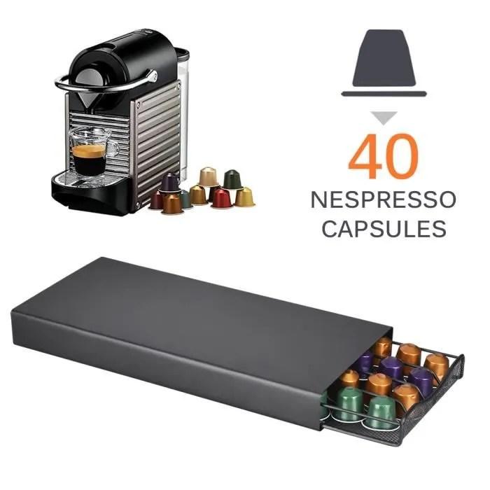 porte dosettes distributeur tiroir nespresso 40 capsules