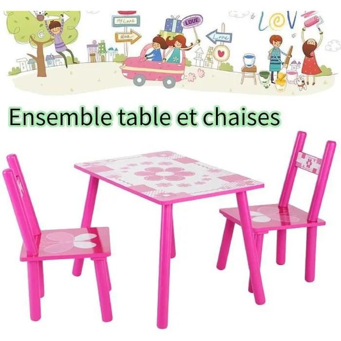 ensemble table avec 2 chaises pour enfants table et chaise enfant en bois petit meuble bureau pour enfants table et chaise