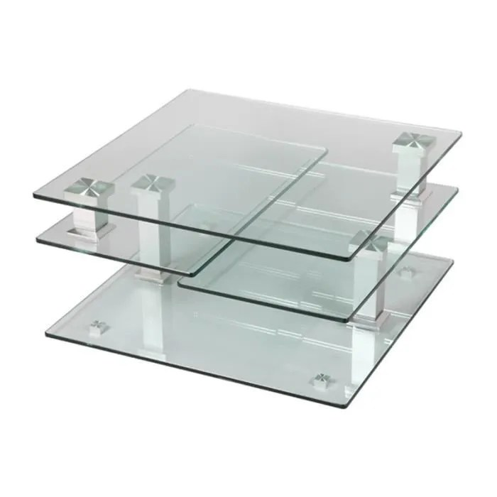 table basse verre carre