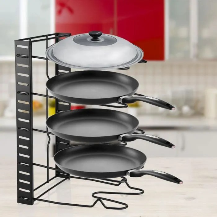 support de rangement pour pot casserole couvercle support de stockage de multicouche de casserole pour cuisine rac