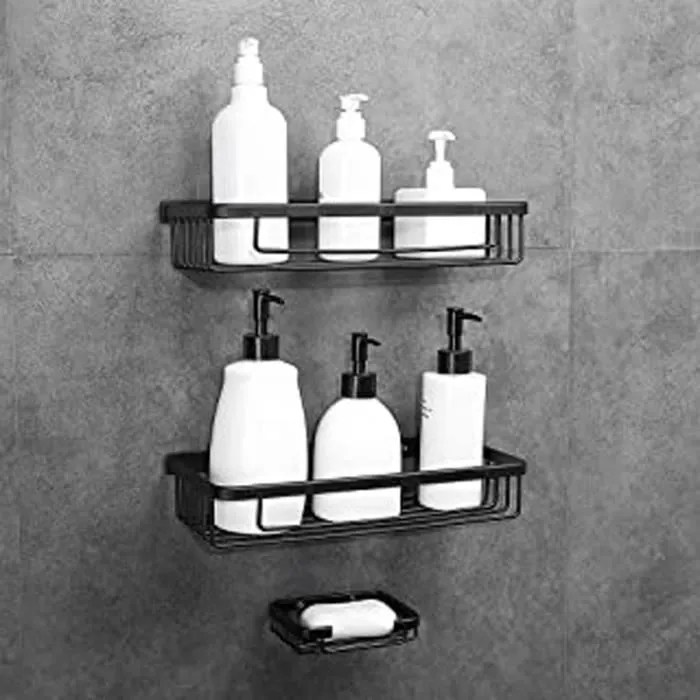 etagere de douche sans percage en aluminium aerona