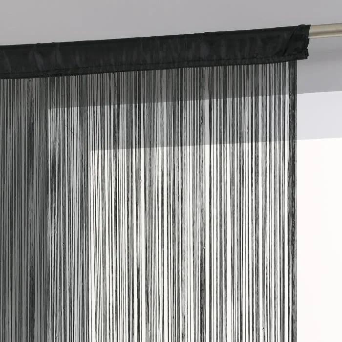 rideau a fil noir et blanc