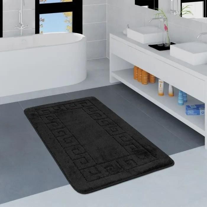 tapis salle de bain orange