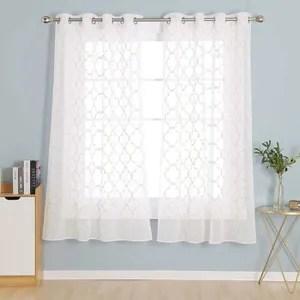 140x175cm tissu blanc deconovo rideau