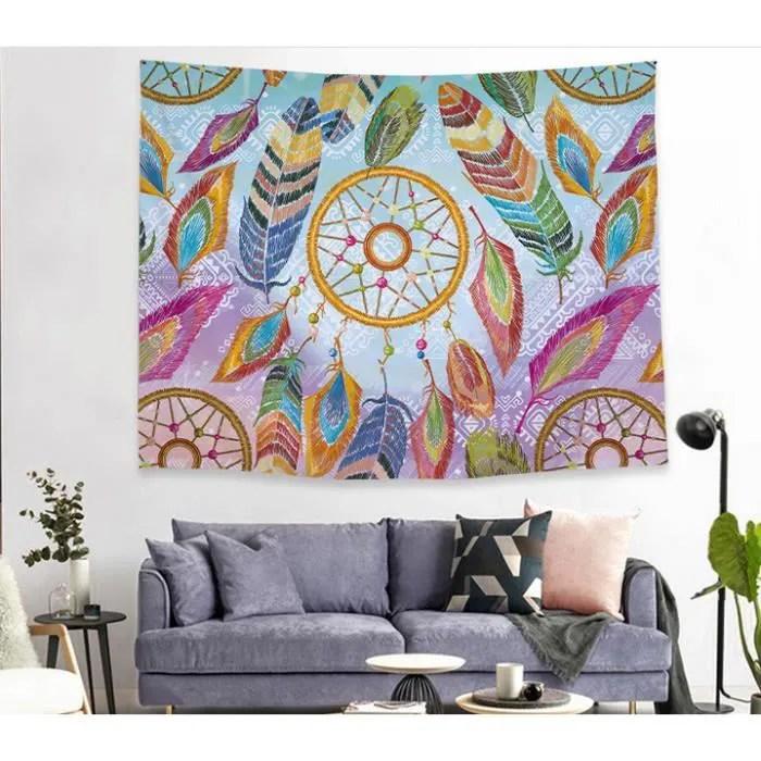 tenture murale mandala salon chambre psychedelique