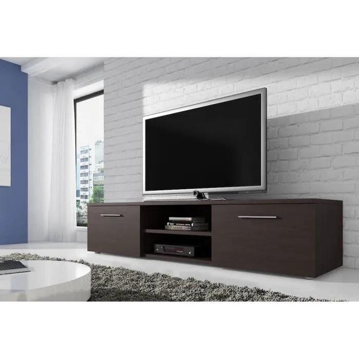 meuble tv en mdf couleur wenge 150 cm