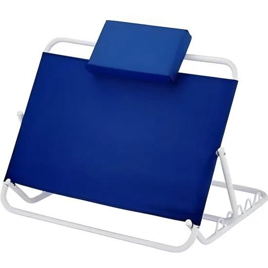 dossier de lit reglable de 45º a 60º pliable couleur bleue